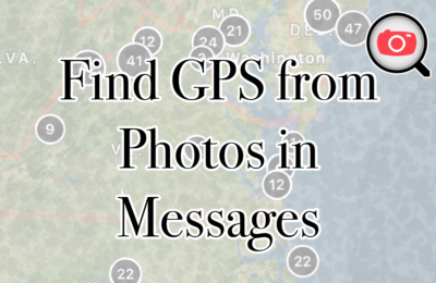 Easily Find Where a Photo Was Taken From Messages