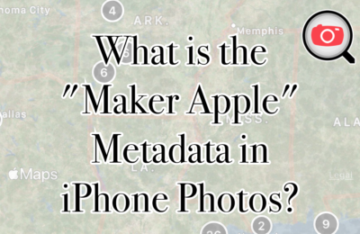 "What is the ""Maker Apple"" Metadata in iPhone Photos?"